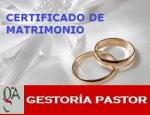 certificado matrimonio