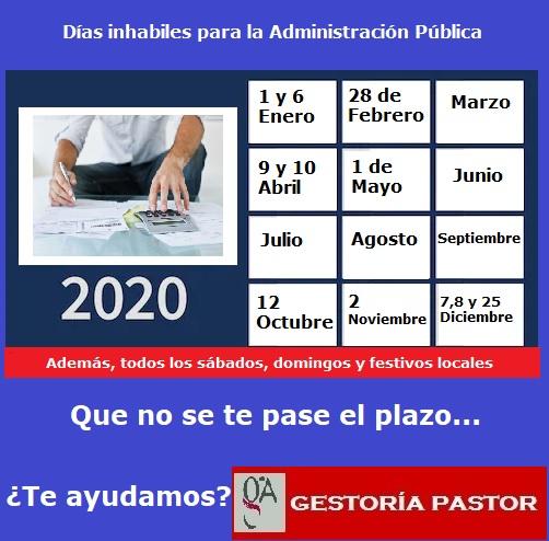 dias inhabiles 2020