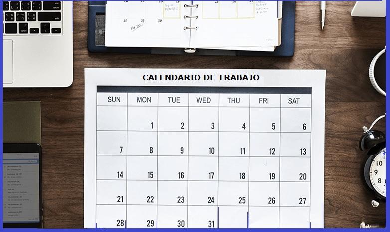 Calendar of work